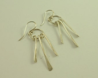 Silver Forged Earrings