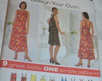 Simplicity 7699  Misses Design your own Dress Sewing Pattern - UNCUT - Size  18 20 22