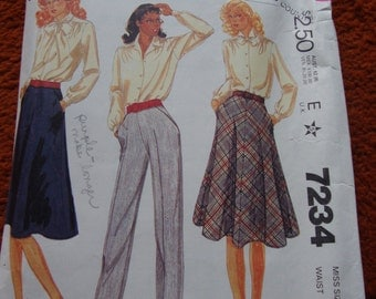Vintage 80s Skirt and Pant Pattern  size 10