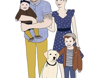 Portrait of family (digital version) 4 people max