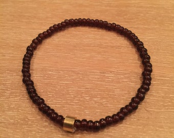 Mens Czech Beaded Bracelet