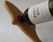 Floating fish wooden wine bottle holder, small tail fish wine holder, gifts for him, wine bottle holder, fishing, christmas gift ideas