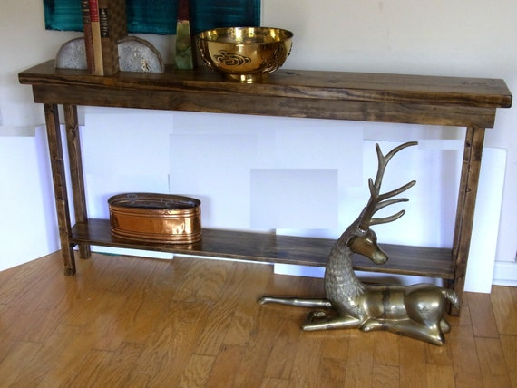 rustic console table extra narrow sofa entryway hallway foyer shelf inch long decor with drawers tables