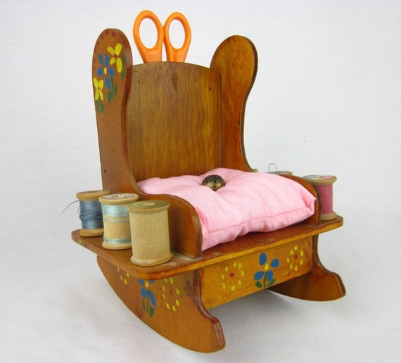Items Similar To Vintage Pin Cushion Rocking Chair On Etsy