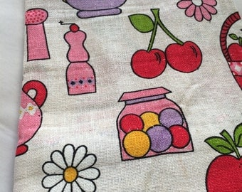 bright 60's candy-colored fabric