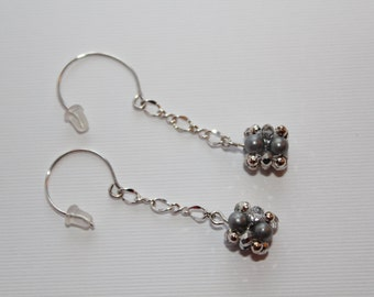 Beaded Bead Drop Earrings