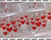 Valentine Party Cups- Valentine Favor Cups-Souvenir Cups Lids Straws
