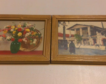 Two Vintage Small Frame Photographs, FREE SHIPPING