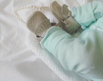 Mini newborn moccasins