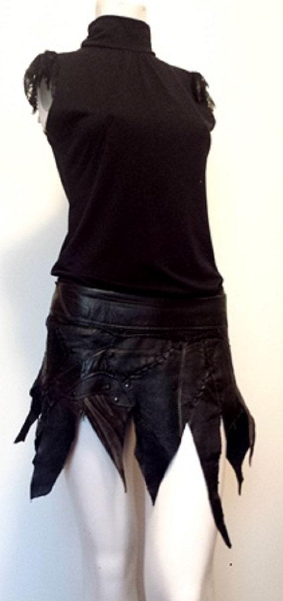 pixie warrior leather skirt