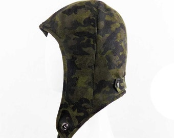 Camouflage Lambskin Leather Hat