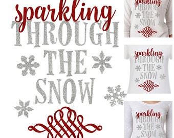 Sparkling through the snow