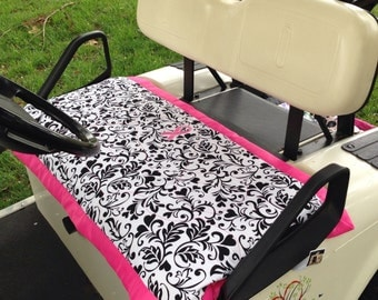 Golf cart seat cover Breast Cancer Awareness