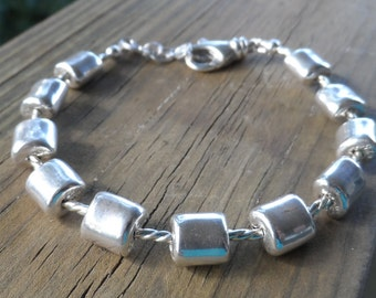 Purely Sterling Silver Bracelet with Lobster Clasp