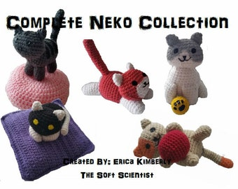 Neko Atsume Crochet Pattern Amigurumi - PDF Complete Guide for All Cats! **Special April Pricing!**
