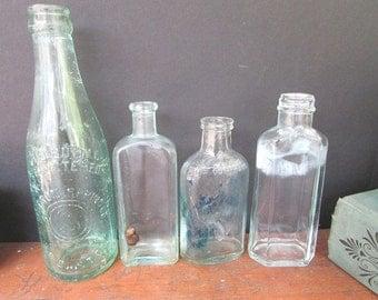 Apothecary Bottles Vintage Blue Bottle Collection Vintage Wedding