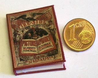 "Childrens Book - ""Fireside Picture Alphabet"", Doll house miniature scale 1/12 - No 1203"