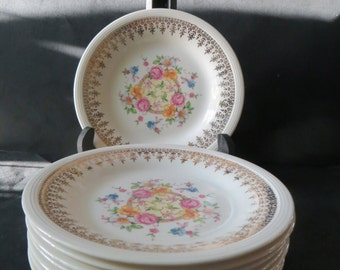 Royal Knowlton Edwin M. Knowles Bread Butter Plates Set of 8