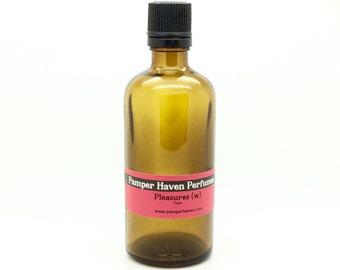 Pleasures for women fragrance oil, 100ml Discount Designer type perfume oil fragrance, Perfume scented oil, Soap making candle fragrance oil