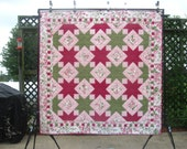 Summer Sale -- Buy 2, Get 1 FREE -- GEMINI SKY, pdf quilt pattern, 2 sizes (Large Throw and Queen)