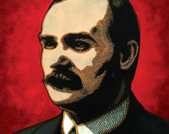 James Connolly. Irish Revolutionary. Executed 1916. by Jim FitzPatrick. Easter Rising, Easter1916, 1916 Rising, Irish, Ireland
