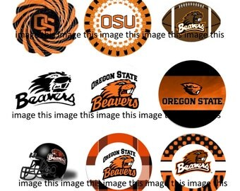 Precut Oregon State Beavers One Inch Circles