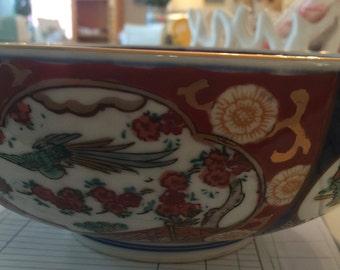 Hand Painted Gold Imari Bowl