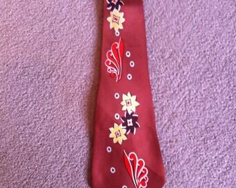 Vinyage 1940s Tie