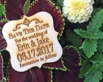 "Custom ""Save the Date"" wood set of 50! HANDMADE"