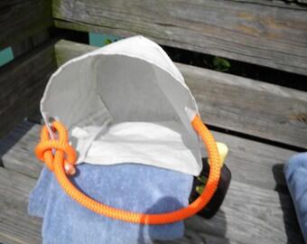 Sail Bucket Bag one-of-a-kind SailAgainBags recycled sail cloth