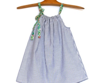 Summer dress for girls Liberty and cotton