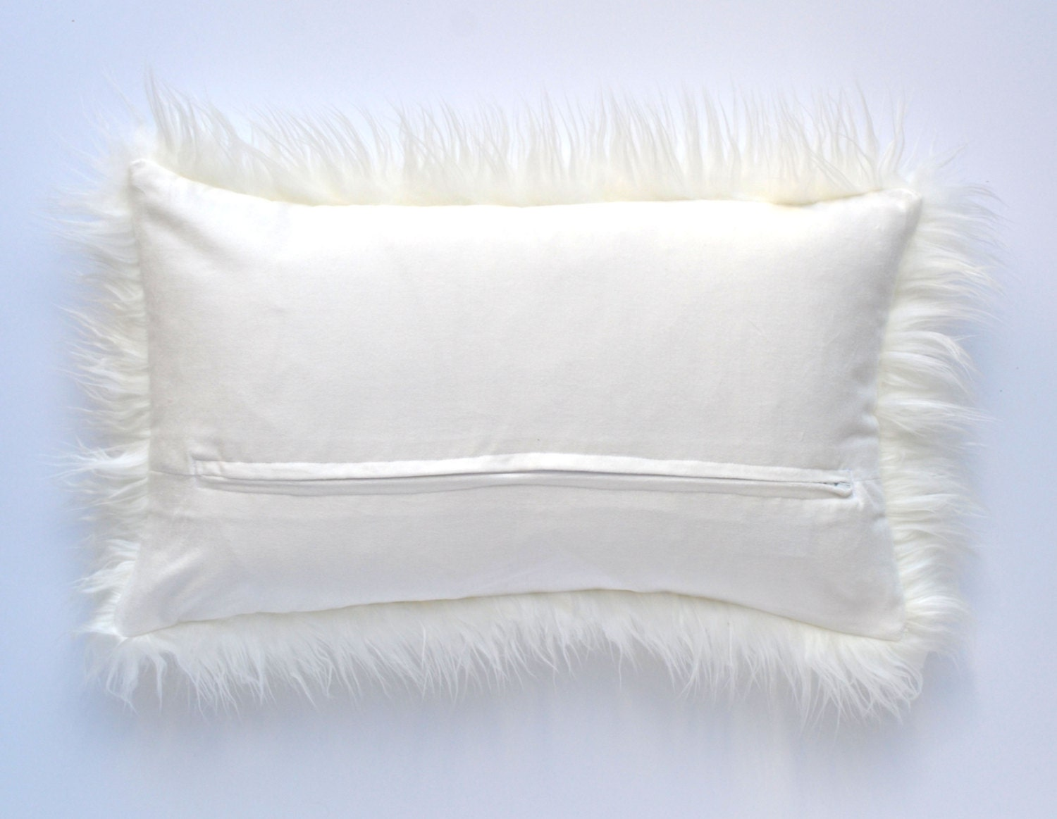 Fur Throw Pillow Covers : Off White Mongolian Faux Fur Pillow - 20 x 20 - Ivory Pillow Cover, Neutral Pillow, Fur Pillow ...