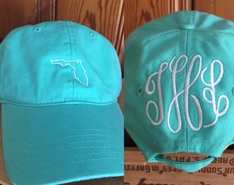 Florida Hat with Monogram on Back