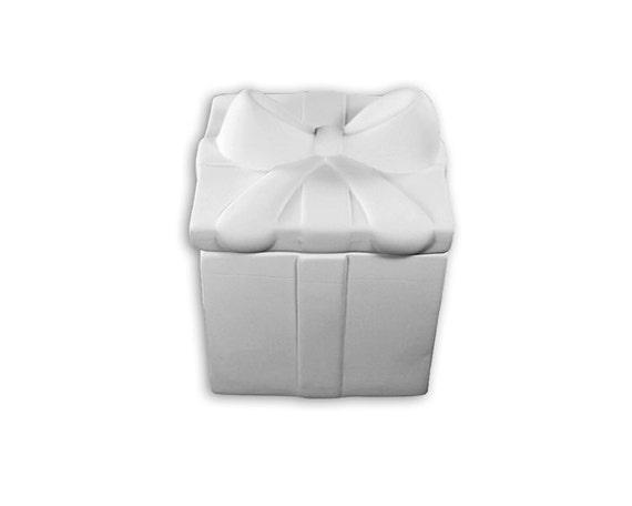 Gift present box ceramic bisque clay paintable craft for Bisque ceramic craft stores