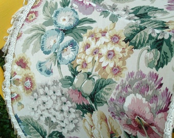 Original vintage standard lampshade in Sanderson fabric and vintage trims.