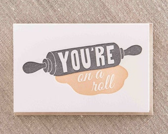 On a Roll Letterpress Greeting Card