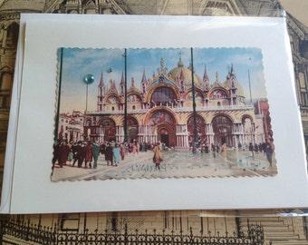 Vintage European Postcard Greeting Card - 5x7- choose from 1 of 5 designs - 4 Dollars each