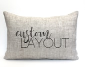 "custom pillow, word pillow, pillow with words, christmas gift, wedding gift, anniversary gift, gift for her, custom gift- ""The Custom"""