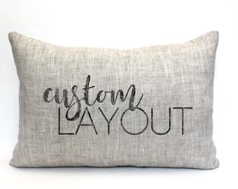 "custom pillow, word pillow, pillow with words, christmas gift, wedding gift, anniversary gift, gift for her, custom gift- ""The Custom"""