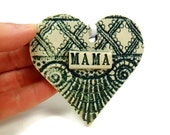 Mama Ornament, Valentine Heart, Mama Christmas, Grandmother Gift, Mama Birthday, Mother's Day gift, Mother Ornament, New Mother Gift,