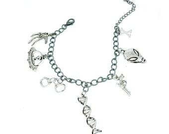 X-Files Charm Bracelet Handmade Gift