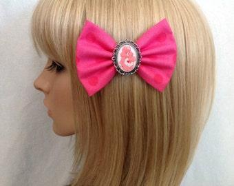 Care Bears love a lot hair bow clip rockabilly psychobilly 80s kawaii vintage retro cute pink pin up geek fabric ladies girls women's kitsch