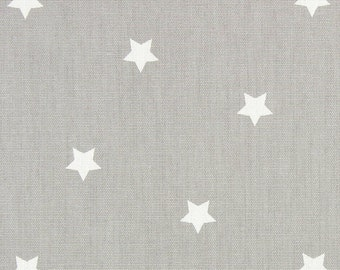 "NEW 0.5 yard Oilcloth - Laminated waterproof Cotton tablecloth Twinkle Grey 52"" wide"