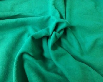 Cotton French Terry Fabric by the Yard Heavy Weight- JADE French Terry Fabric Hoodie Sweater