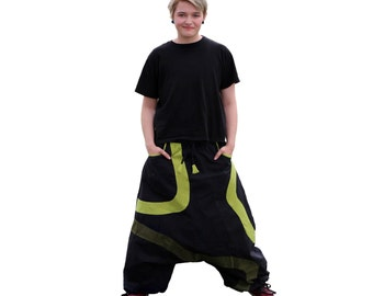 Harem Pants- Aladdin Trousers - Afghani Pants - Alibaba Pants - Men - Women - Cotton