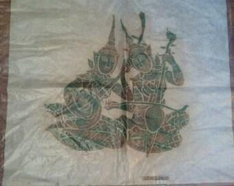 Vintage Thailand Block Print on Tissue Paper