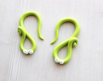 Lime Green and Ivory Gauges - 2g Only