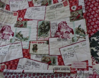 Postcards For Santa Quilt ~ Disappearing Layer Cake Quilt
