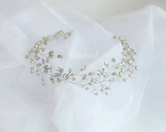 Swarovski Bridal Hair Vine Wedding Headband