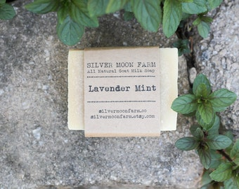 All Natural Lavender Mint Goats Milk Soap
